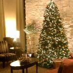 Tree in the lobby.