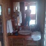 sauna left, steam room right