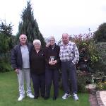 four of us in the garden at creagh dhu