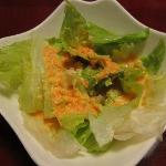 Green salad with the awesome dressing