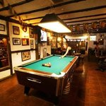 a/c , slate pool table