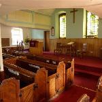 Internal view of sanctuary