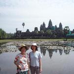 The pond at Angkor Wat and its' reflection
