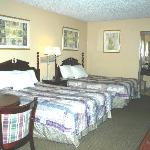 80 Spacious Rooms with King or 2 Double Beds! All rooms have Hair Dryers, Coffee Makers, Iron an