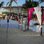 Azul Fives beach wedding preparation