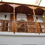 The balcony outside the bedroom
