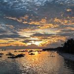 SUNSET OVER  ALONA BEACH FROM AMORITA