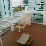 Balkon eines Duplex Apartments