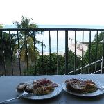 Home made breakfast with a view