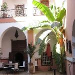 The courtyard was the only beautiful thing about the Riad