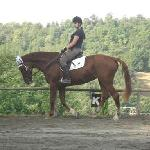 me riding zara on our last day