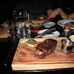 the steak. Yum!