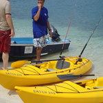 Joe and the fishing kayaks