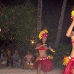 One of the dancers at their Tahitian dance and buffet