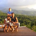 My family soaking up the tranquility