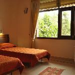 Airy sunlit bedrooms