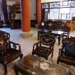 Chinese furniture in the lobby