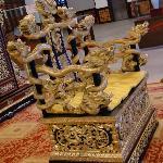 The replica of throne