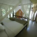 One of the classic Bali style bedrooms