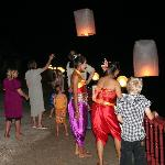 Beautiful thai lanterns at our private party
