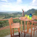 Enjoy breakfast overlooking the Pacific Ocean.