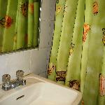 shower curtain - a touch of green