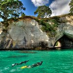 Snorkelling at Cathedral Cove