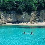 Swimming near by Agios Nikolaos