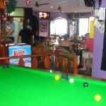 british pool table and bar area