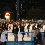 Skating at The Pond in Bryant Park