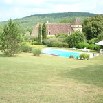 Overlooking the swimming pool of Les Parroutoux