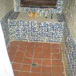 Dirty rundown shower area