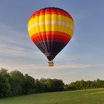 Decollage montgolfière
