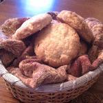 Basket of wonderful orange ginger scones