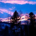 December Sunset from the Hot Pool at Christiania Lodge in Vail