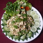 Spicy chicken salad ( Lap Kai )