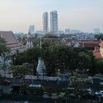 There's a great view of Bangkok from the roof!