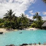 Sand-bottom pool
