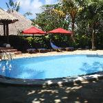 Relax by our beautiful main pool area