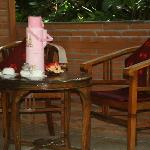 Enjoy breakfast in the privacy of your own veranda