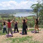Relaxing meditations a top Burrendon Mountain overlooking the Wivenhoe Dam at Weltevreden Domes