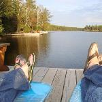 Relaxing and taking in the beauty at Fenske Lake Cabins!