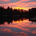 Spectacular sunset on Fenske Lake - view from our dock.