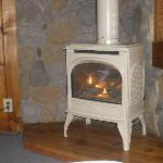 really nice fire place and it warms up really fast