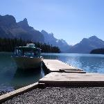Anlegestelle auf Spirit Island am Lake Maligne