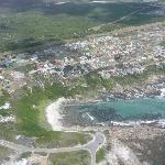 Luftaufnahme der Crayfish Lodge