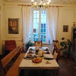 sala para el desayuno