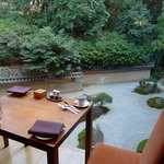 Excellent view of the Jap Garden during breakfast