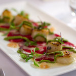 beef carpaccio with scallops