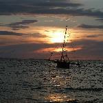 coucher de soleil à Madirokély
